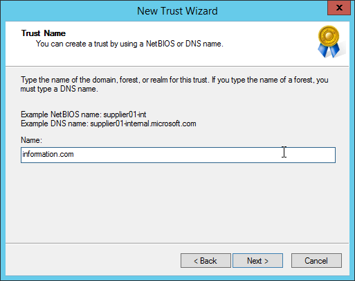 Active Directory - How to create forest trust -