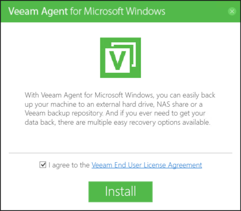 Veeam - Install and configure Veeam Agent Free -