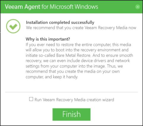 Veeam - Install and configure Veeam Agent Free -